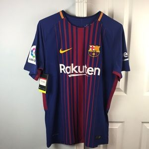 Authentic Barcelona 2017 soccer jersey Messi Sz L